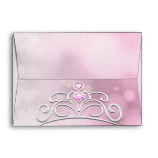 Princess Wand & Crown Birthday Invitation Envelope