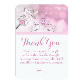 Princess Wand & Crown Birthday Thank You Card