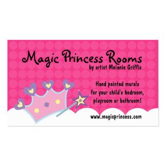 Princess Wand Pink Dot Business Card