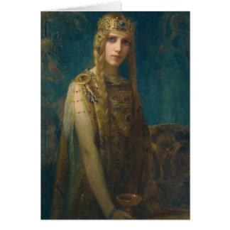 Princess Wearing a Crown Card