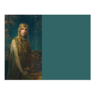 Princess Wearing a Crown Postcard