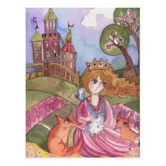 Princess Who loved Animals Postcard