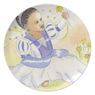 Princess Wishes girl's Cinderella dinner plate