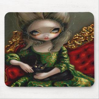 """Princess with a Black Cat"" Mousepad"