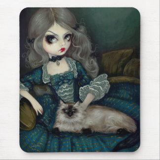 Princess with a Himalayan Cat Mouse Pad