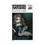 """""""Princess with a Himalayan Cat"""" Stamp"""