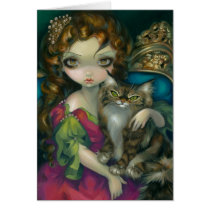 fantasy, princess, cat, cats, maine coon, maine, coon, france, french, jasmine, artsprojekt, art, rococo, baroque, kitty, sofa, portrait, eye, eyes, big eye, big eyed, becket-griffith, becket, griffith, jasmine becket-griffith, beckett, jasmin, strangeling, artist, goth, gothic, fairy, gothic fairy, faery, fairies, faerie, fairie, lowbrow, low brow, big eyes, Card with custom graphic design