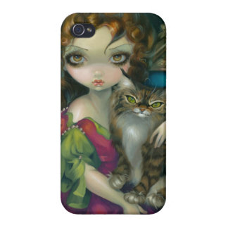 """""""Princess with a Maine Coon Cat"""" iPhone 4 Case"""