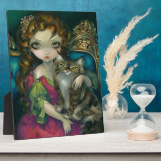 """""""Princess with a Maine Coon Cat"""" Plaque"""