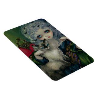 """Princess with a Ragdoll Cat"" Flex Magnet"