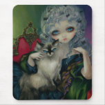 """Princess with a Ragdoll Cat"" Mousepad"