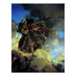 Princess with a Singing Tree by Maxfield Parrish Poster