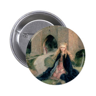 Princess with a Spindle Pinback Button