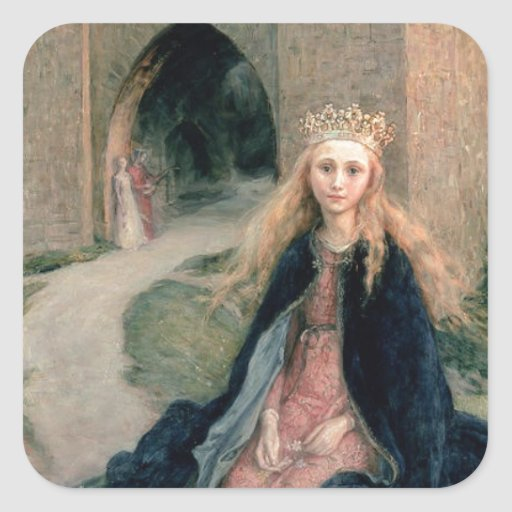Princess with a Spindle Square Sticker