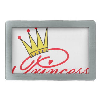 Princess with Crown Belt Buckle