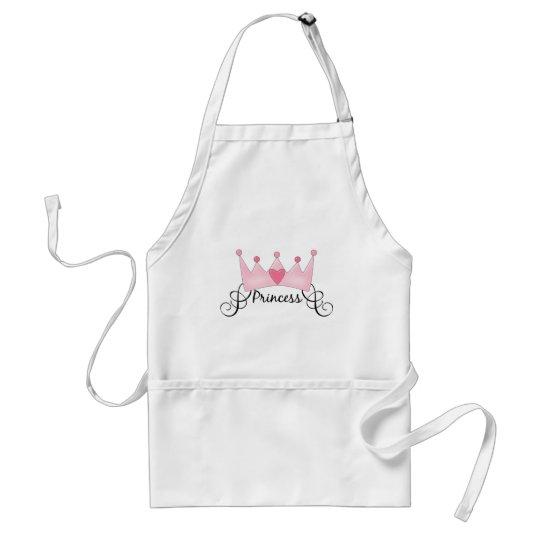 Princess With Crown - Customizable Adult Apron