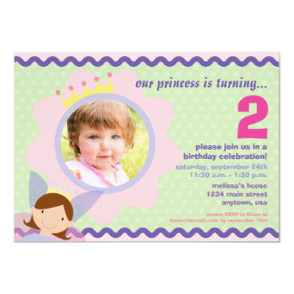 Princess with custom Photo Party Invite