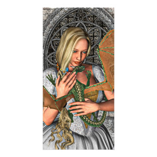 Princess with Dragon Card
