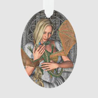 Princess with Dragon Ornament