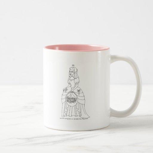 Princess With Flowers Coffee Mug