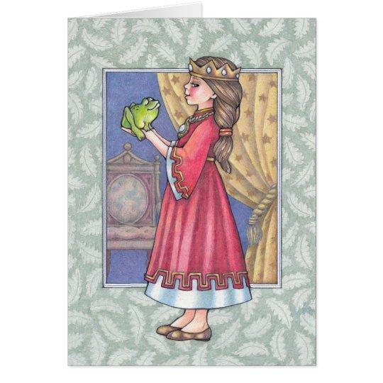 princess with frog card