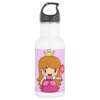 Princess with Hearts 18oz Water Bottle