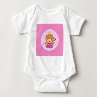 Princess with Hearts Baby Bodysuit