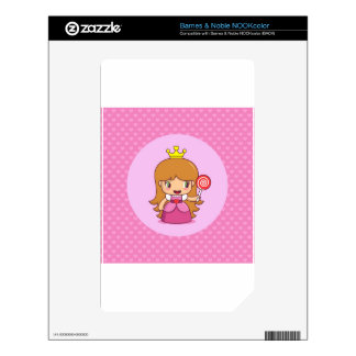 Princess with Hearts Decal For The NOOK Color