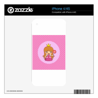 Princess with Hearts Decals For iPhone 4S