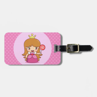 Princess with Hearts Luggage Tag