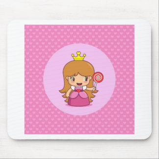 Princess with Hearts Mouse Pad