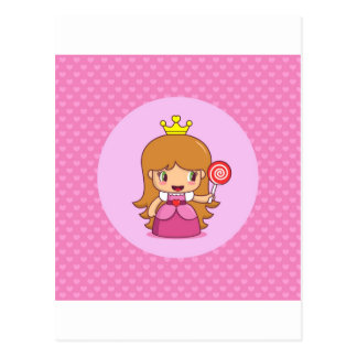 Princess with Hearts Postcard