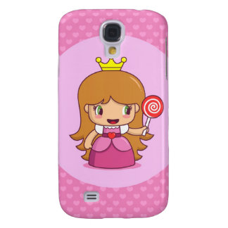 Princess with Hearts Samsung Galaxy S4 Cover