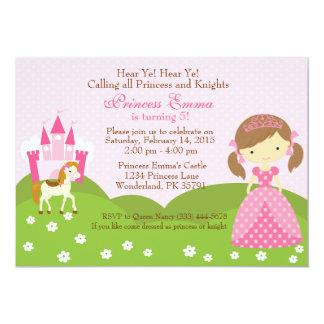 Princess with Horse birthday invitation