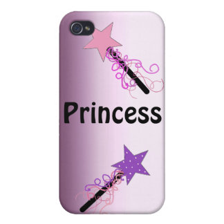 Princess with Magic Wands iPhone 4 Cases