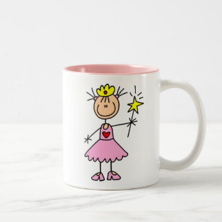 Princess With Wand Two-Tone Coffee Mug