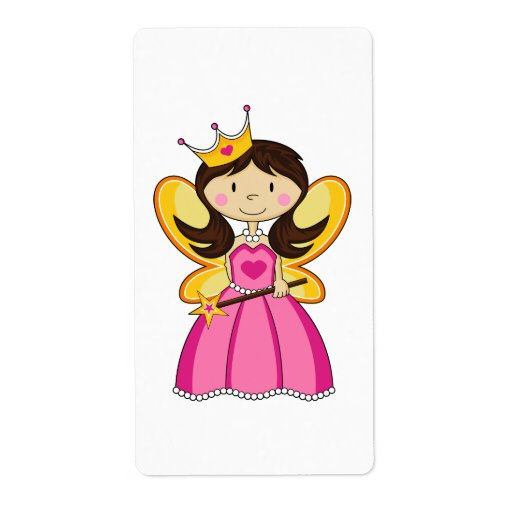Princess with Wand Sticker Label