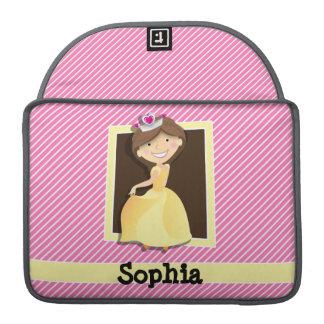 Princess, Yellow Dress; Pink & White Stripes Sleeve For MacBooks