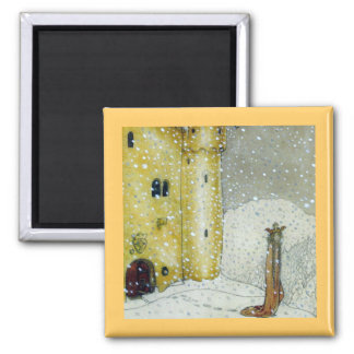 Princessa by Snowy Castle 2 Inch Square Magnet