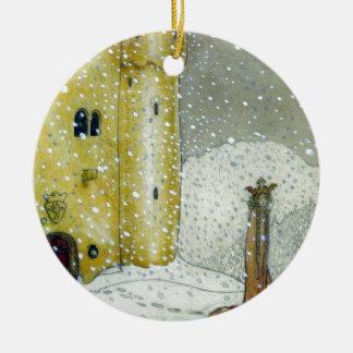 Princessa by Snowy Castle Ceramic Ornament
