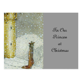 Princessa by Snowy Castle Postcard