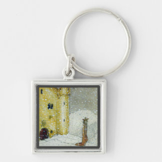 Princessa by Snowy Castle Silver-Colored Square Keychain