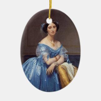 Princesse Alberl de Broglie Adorno Navideño Ovalado De Cerámica
