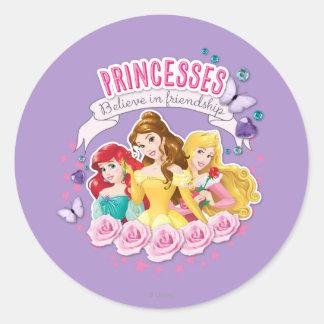 Princesses Believe in Friendship 1 Classic Round Sticker
