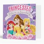 Princesses Believe in Friendship 1 Vinyl Binder