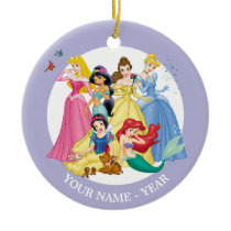 Princesses | Birds and Animals Add Your Name Ceramic Ornament