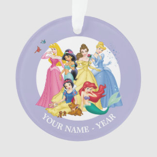 Princesses | Birds and Animals Add Your Name Ornament