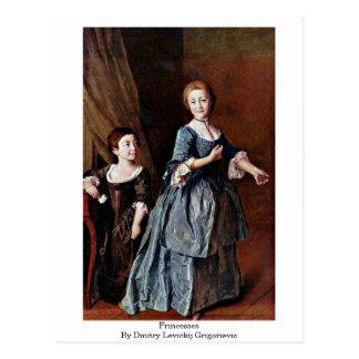 Princesses By Dmitry Levickij Grigorievic Postcard