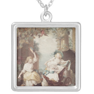 Princesses Mary , Sophia  and Amelia Silver Plated Necklace