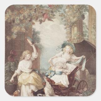 Princesses Mary , Sophia  and Amelia Square Sticker